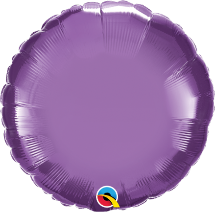 Round Shaped Purple Chrome Foil Helium Balloon
